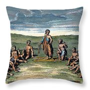 Five Nations: Meeting, C1570 Throw Pillow by Granger