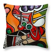 Five O' Clock With Picasso Throw Pillow