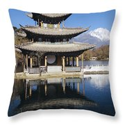 Five Pheonix Pavilion Throw Pillow
