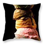 Five Scoops Of Ice Cream Throw Pillow