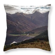 Five Sisters Of Kintail Throw Pillow