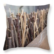 Five, Six Pick Up Sticks Throw Pillow