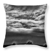 Five Trees In Clouds Throw Pillow