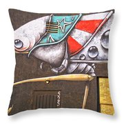 Five Two Five Throw Pillow