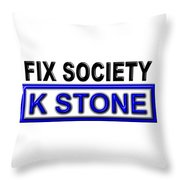 Fix Society 2nd Edition Throw Pillow
