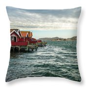 Fjallbacka Huts Throw Pillow