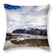 Fjallsarlon Glacier Lagoon Throw Pillow