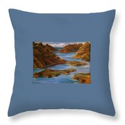 Fjords Of Norwary Throw Pillow