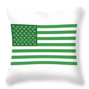 Flag 2 Throw Pillow