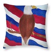 Flag And Eagle Throw Pillow