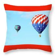 Flag Balloon Throw Pillow
