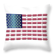 Flag Bottles3 Throw Pillow
