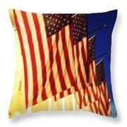 Flag Congress Hall Cape May Nj Throw Pillow