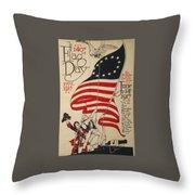Flag Day 1917 Throw Pillow