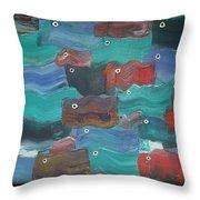 Flag Fish Throw Pillow