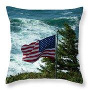 Flag Flying Throw Pillow