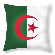 Flag Of Algeria Wall. Throw Pillow