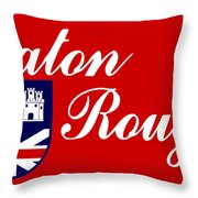 Flag Of Baton Rouge Throw Pillow