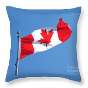 Flag Of Canada Throw Pillow