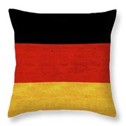 Flag Of Germany Grunge Throw Pillow