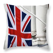 Flag Of Great Britain  Throw Pillow