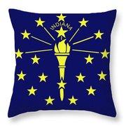 Flag Of Indiana Throw Pillow