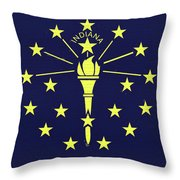 Flag Of Indiana Wall Throw Pillow