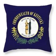 Flag Of Kentucky Wall Throw Pillow
