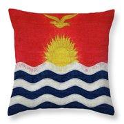 Flag Of Kiribati Texture Throw Pillow