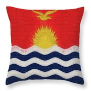 Flag Of Kiribati Wall Throw Pillow
