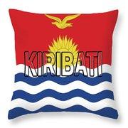 Flag Of Kiribati Word Throw Pillow