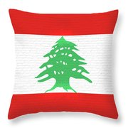 Flag Of Lebanon Wall Throw Pillow