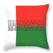 Flag Of Madagascar Word Throw Pillow