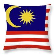Flag Of Malaysia. Throw Pillow