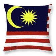 Flag Of Malaysia Wall. Throw Pillow