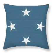 Flag Of Micronesia Wall Throw Pillow