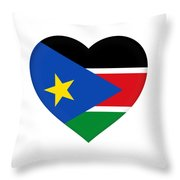 Flag Of  South Sudan Heart Throw Pillow