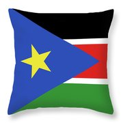 Flag Of  South Sudan  Throw Pillow