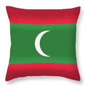 Flag Of The Maldives Wall. Throw Pillow