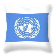 Flag Of The United Nations Throw Pillow