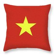Flag Of Vietnam Wall Throw Pillow