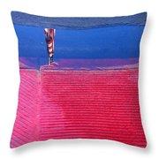 Flag Reflection In Water 1 Casa Grande Arizona 2005 Throw Pillow