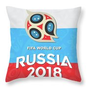 Flag Russia World Cup Throw Pillow