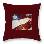 Flag Section Throw Pillow