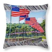 Flag Walk 2 Throw Pillow