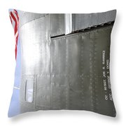 Flag Wwii Aircraft Throw Pillow
