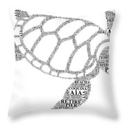 Flagler Beach Word Art Throw Pillow