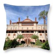 Flagler College Court Yard Throw Pillow