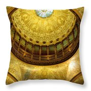 Flagler College Rotunda II Throw Pillow
