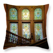 Flagler College Stained Glass Throw Pillow